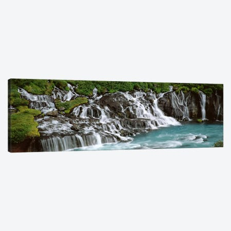 Hraunfossar, Iceland Canvas Print #PIM4537} by Panoramic Images Canvas Art