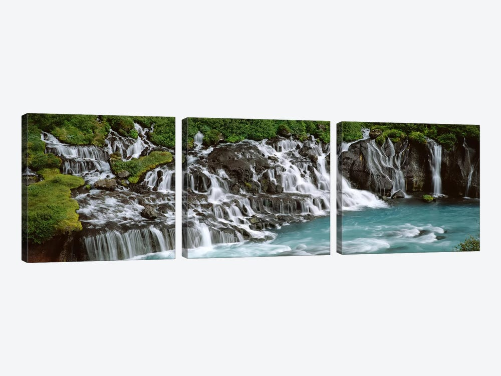 Hraunfossar, Iceland by Panoramic Images 3-piece Canvas Wall Art