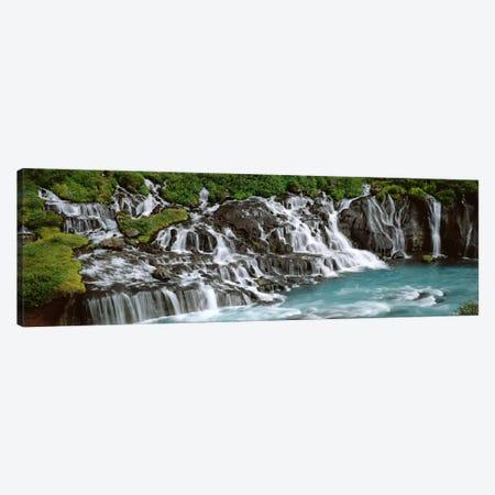 Hraunfossar, Iceland Canvas Print #PIM4537} by Panoramic Images Canvas Art