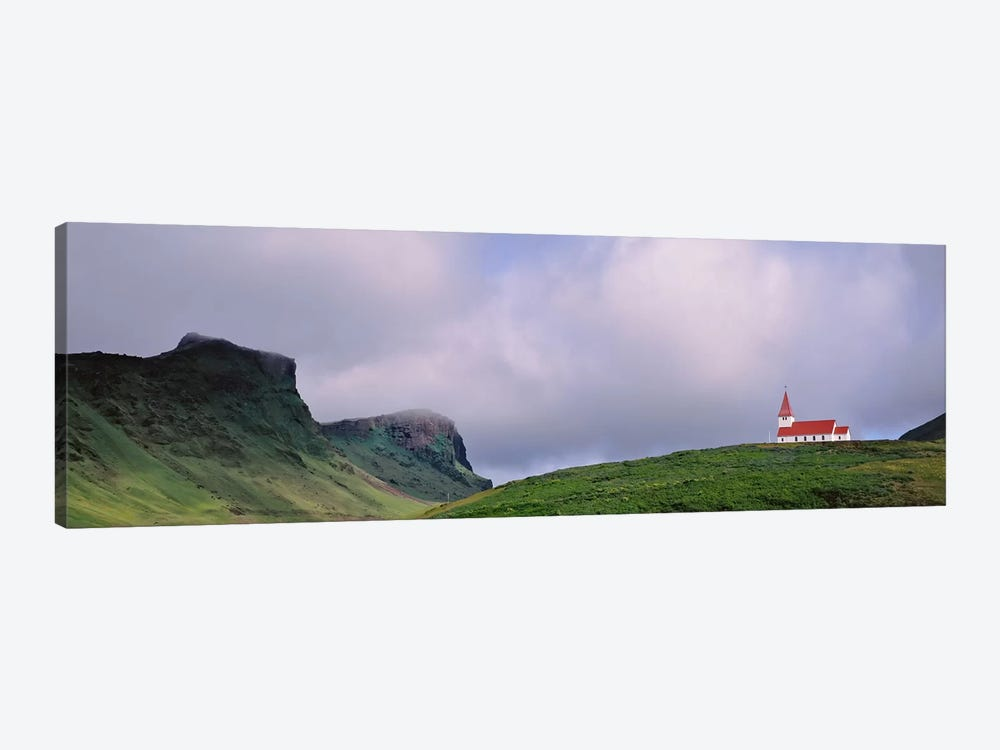 Church In The Landscape, Vik I Myrdal, Iceland by Panoramic Images 1-piece Canvas Wall Art