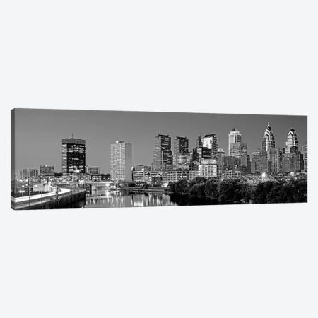 US, Pennsylvania, Philadelphia skyline, night Canvas Print #PIM4552} by Panoramic Images Canvas Print