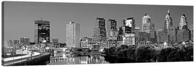 US, Pennsylvania, Philadelphia skyline, night Canvas Art Print