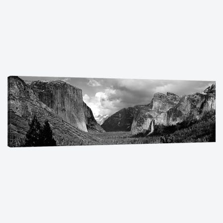 Yosemite Valley In B&W, Yosemite National Park, California, USA Canvas Print #PIM4553} by Panoramic Images Canvas Art Print