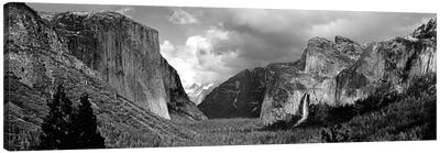 Yosemite Valley In B&W, Yosemite National Park, California, USA Canvas Art Print