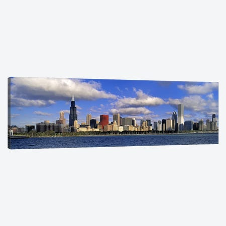 USA, Illinois, Chicago, Panoramic view of an urban skyline by the shore Canvas Print #PIM4554} by Panoramic Images Canvas Wall Art