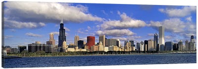 USA, Illinois, Chicago, Panoramic view of an urban skyline by the shore Canvas Print #PIM4554