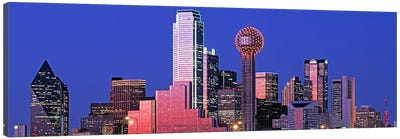 Downtown Skyline At Night, Dallas, Texas, USA Canvas Print #PIM4555