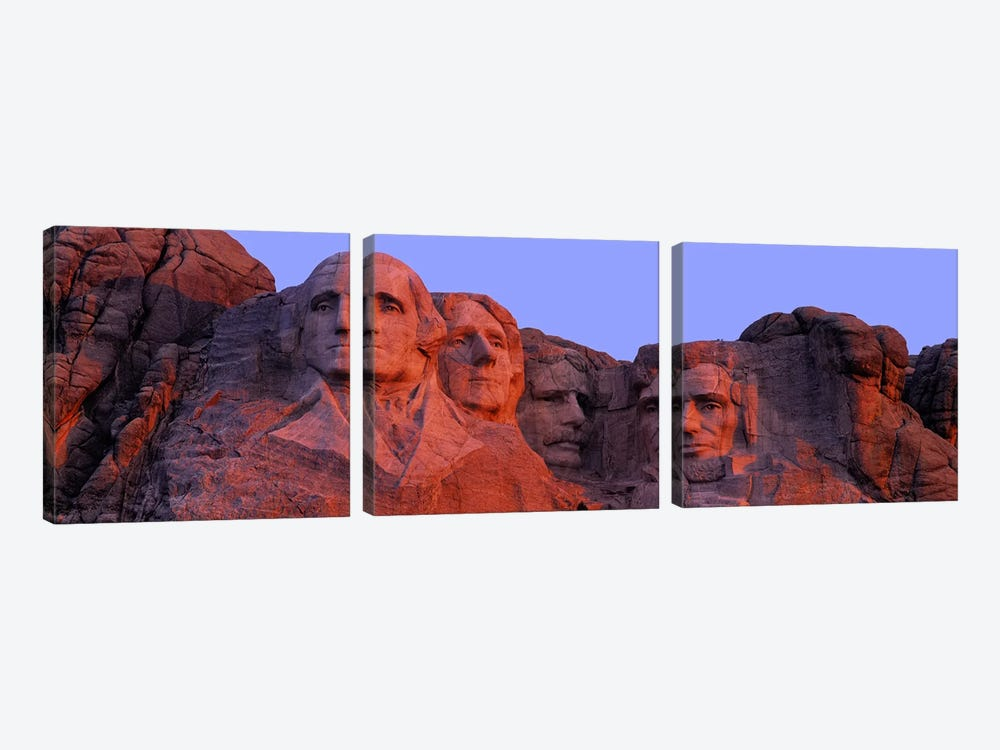 Mount Rushmore National Memorial II, Pennington County, South Dakota, USA by Panoramic Images 3-piece Canvas Print