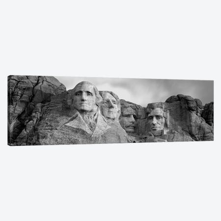 Mount Rushmore National Memorial II In B&W, Pennington County, South Dakota, USA Canvas Print #PIM4559} by Panoramic Images Canvas Print