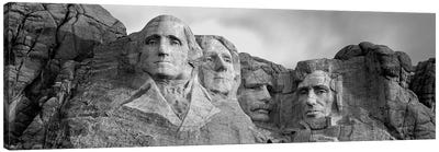 Mount Rushmore National Memorial II In B&W, Pennington County, South Dakota, USA Canvas Print #PIM4559
