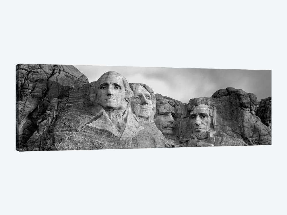 Mount Rushmore National Memorial II In B&W, Pennington County, South Dakota, USA by Panoramic Images 1-piece Canvas Artwork