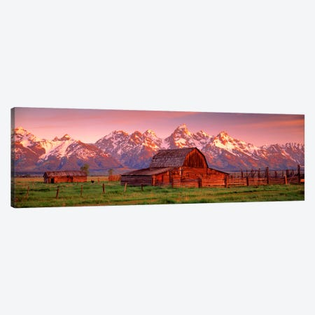Barn Grand Teton National Park WY USA Canvas Print #PIM455} by Panoramic Images Canvas Art