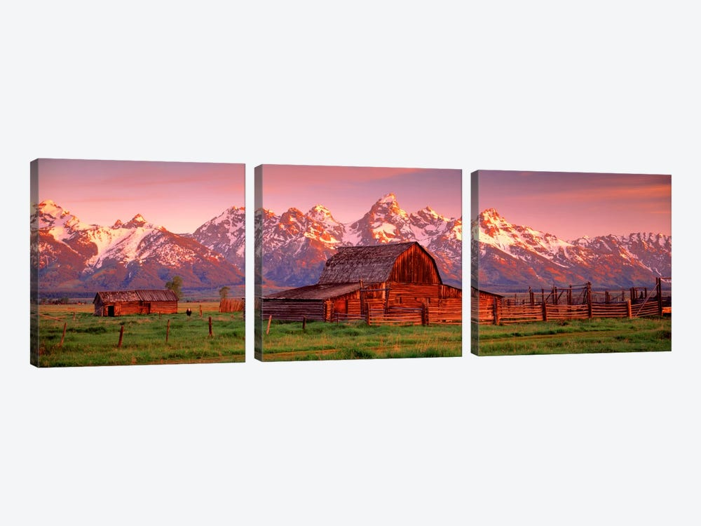 Barn Grand Teton National Park WY USA by Panoramic Images 3-piece Canvas Art Print