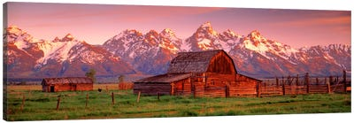 Barn Grand Teton National Park WY USA Canvas Art Print