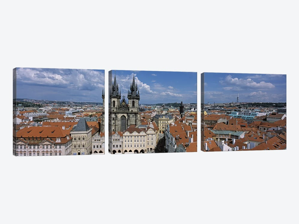 Church of our Lady before Tyn, Old Town Square, Prague, Czech Republic by Panoramic Images 3-piece Canvas Art