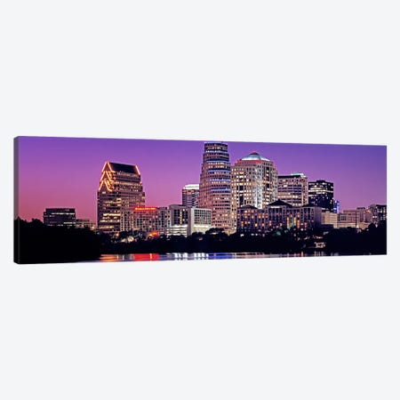 USA, Texas, Austin, View of an urban skyline at night Canvas Print #PIM4562} by Panoramic Images Canvas Art