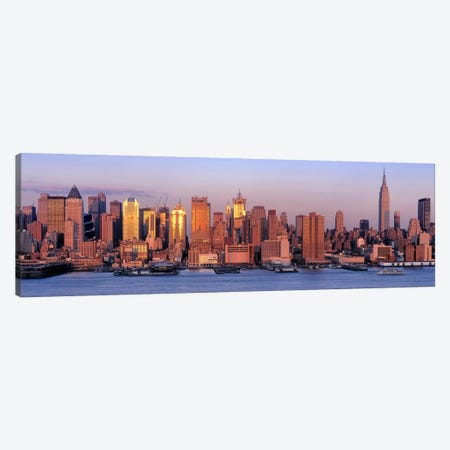 USA, New York, New York City, West Side, Skyscrapers in a city during dusk #2 Canvas Print #PIM4568} by Panoramic Images Canvas Wall Art