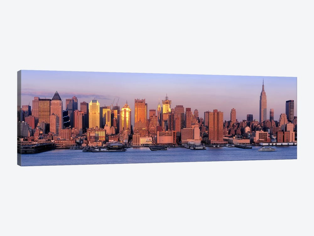 USA, New York, New York City, West Side, Skyscrapers in a city during dusk #2 by Panoramic Images 1-piece Canvas Art
