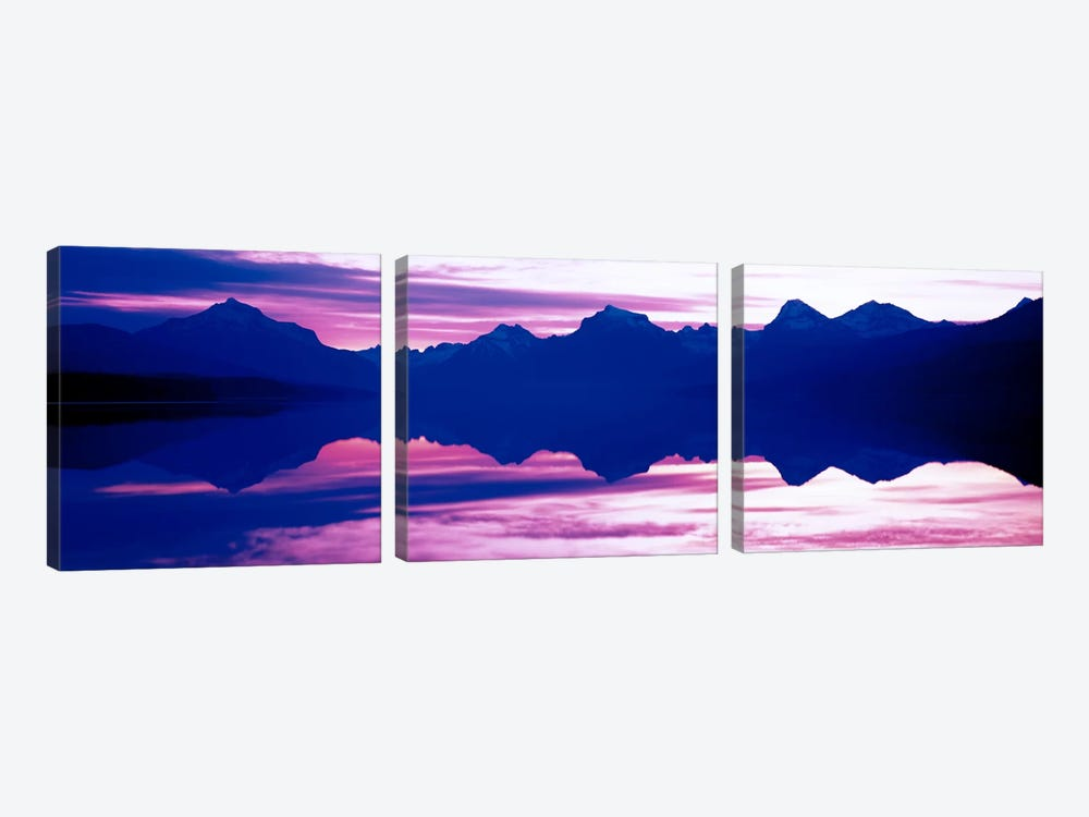 Sunrise Lake McDonald Glacier National Park MT USA by Panoramic Images 3-piece Canvas Artwork