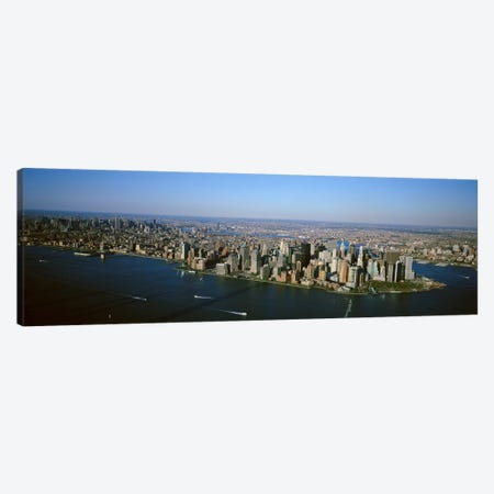 USA, New York, New York City, Aerial view of Lower Manhattan Canvas Print #PIM4575} by Panoramic Images Canvas Art