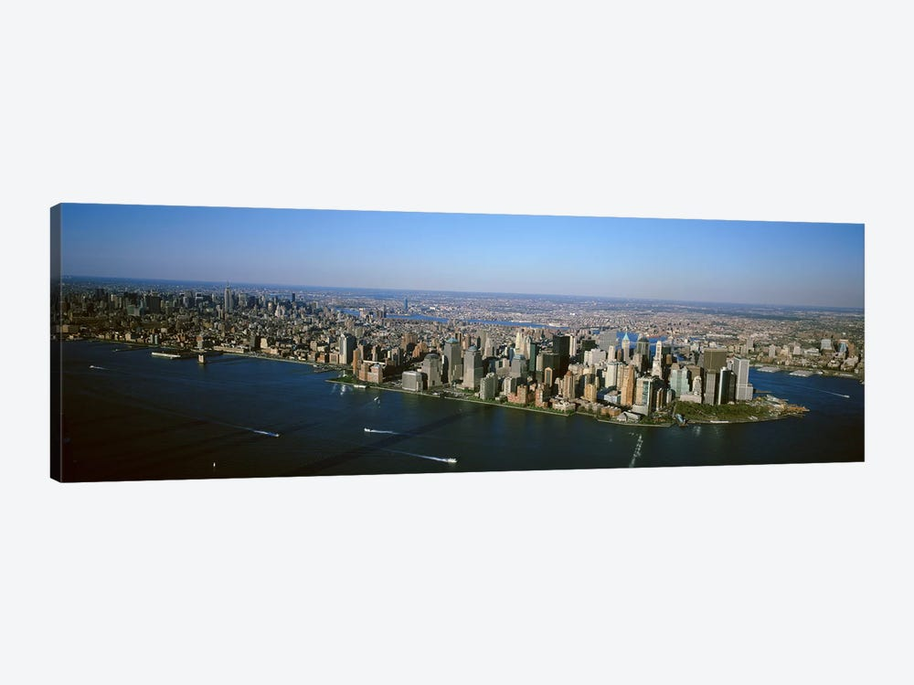 USA, New York, New York City, Aerial view of Lower Manhattan by Panoramic Images 1-piece Canvas Wall Art
