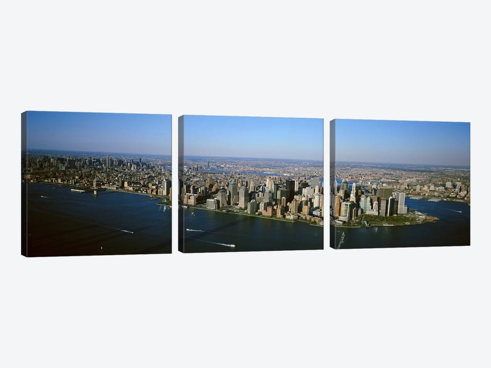 USA, New York, New York City, Aerial view of Lower Manhattan by Panoramic Images 3-piece Canvas Artwork