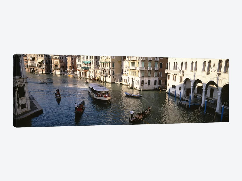 Traffic On The Canal, Venice, Italy by Panoramic Images 1-piece Canvas Wall Art