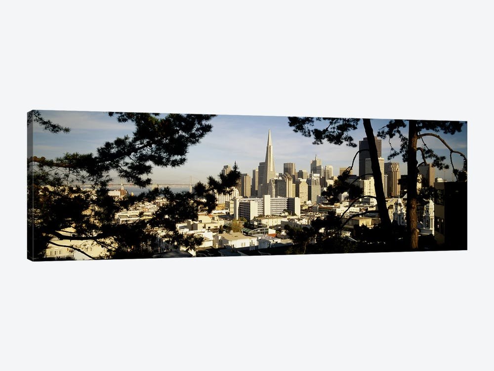High Angle View Of A City, San Francisco, California, USA by Panoramic Images 1-piece Canvas Artwork