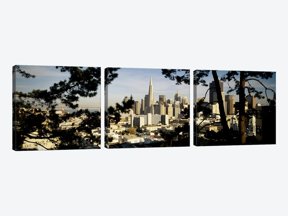 High Angle View Of A City, San Francisco, California, USA by Panoramic Images 3-piece Canvas Artwork