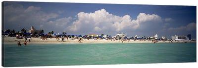 Tourists on the beach, Miami, Florida, USA Canvas Print #PIM4595