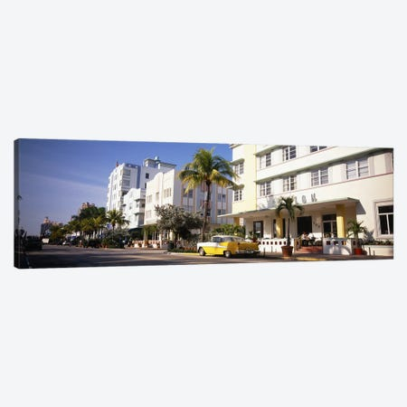 Car parked in front of a hotel, Miami, Florida, USA Canvas Print #PIM4598} by Panoramic Images Canvas Art Print