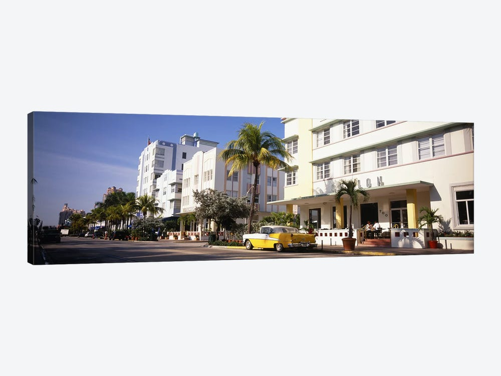 Car parked in front of a hotel, Miami, Florida, USA by Panoramic Images 1-piece Art Print