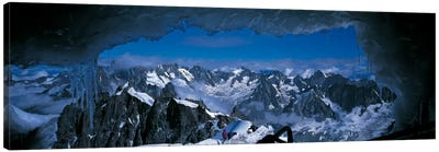 Cave Mt Blanc France Canvas Art Print