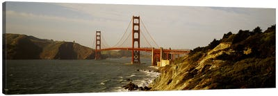 Bridge over a bay, Golden Gate Bridge, San Francisco, California, USA Canvas Print #PIM4600
