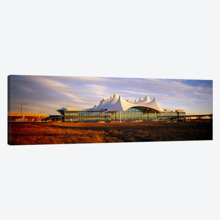Clouded sky over an airportDenver International Airport, Denver, Colorado, USA Canvas Print #PIM4602} by Panoramic Images Art Print