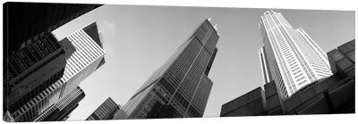 Low angle view of buildings, Sears Tower, Chicago, Illinois, USA Canvas Print #PIM4603