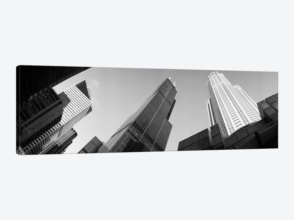 Low angle view of buildings, Sears Tower, Chicago, Illinois, USA by Panoramic Images 1-piece Art Print