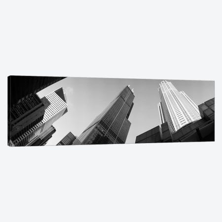 Low angle view of buildings, Sears Tower, Chicago, Illinois, USA Canvas Print #PIM4603} by Panoramic Images Art Print