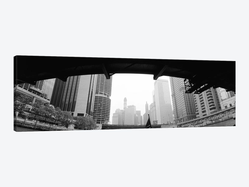Low angle view of buildings, Chicago, Illinois, USA by Panoramic Images 1-piece Canvas Art
