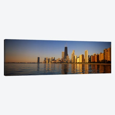 Buildings on the waterfront, Chicago, Illinois, USA Canvas Print #PIM4607} by Panoramic Images Canvas Artwork