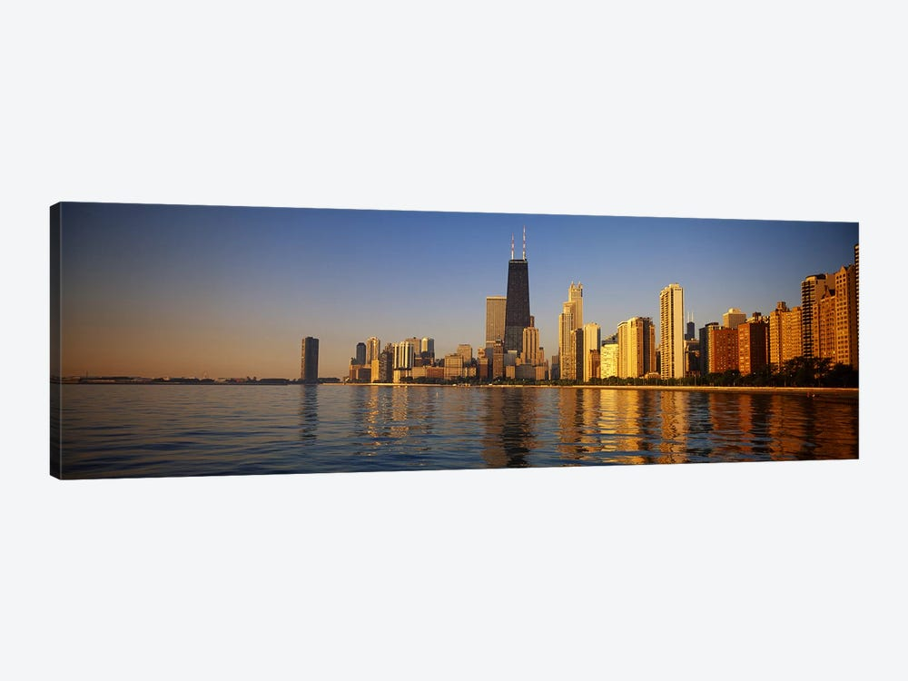 Buildings on the waterfront, Chicago, Illinois, USA by Panoramic Images 1-piece Canvas Art Print