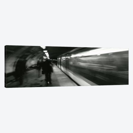 Subway Station Blurred Motion, London, England, United Kingdom Canvas Print #PIM4609} by Panoramic Images Canvas Art Print