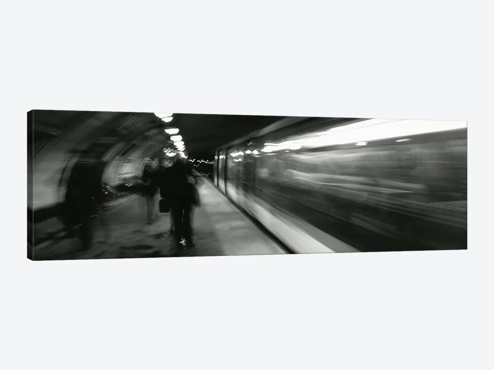 Subway Station Blurred Motion, London, England, United Kingdom by Panoramic Images 1-piece Canvas Art Print