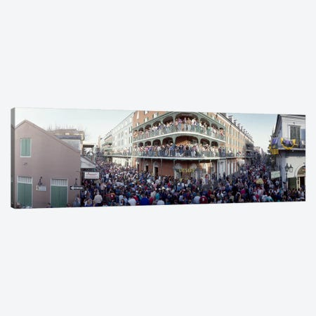 People celebrating Mardi Gras festivalNew Orleans, Louisiana, USA Canvas Print #PIM4618} by Panoramic Images Canvas Artwork