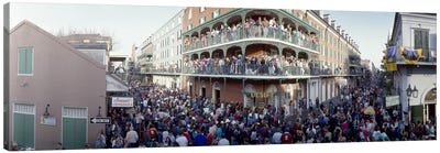 People celebrating Mardi Gras festivalNew Orleans, Louisiana, USA Canvas Print #PIM4618