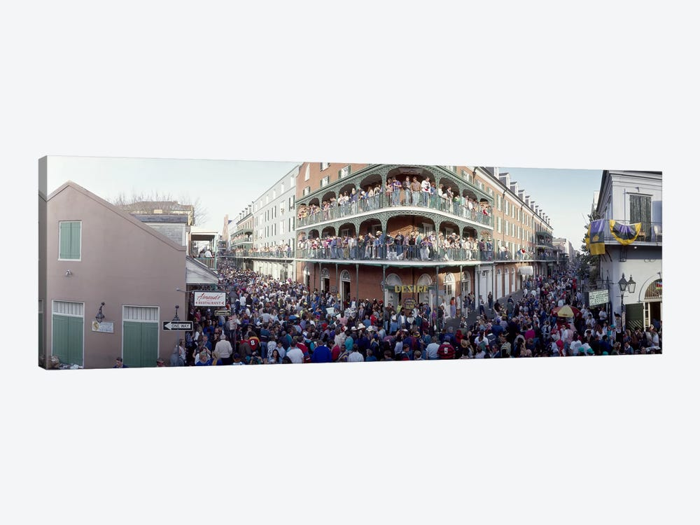 People celebrating Mardi Gras festivalNew Orleans, Louisiana, USA by Panoramic Images 1-piece Canvas Art Print
