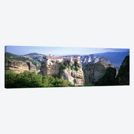 Monastery Of Varlaam, Meteora, Thessaly, Greece 3-Piece Canvas #PIM4619} by Panoramic Images Canvas Art