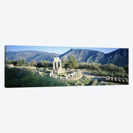 GreeceDelphi, The Tholos, Ruins of the ancient monument Canvas Print #PIM4622} by Panoramic Images Canvas Print