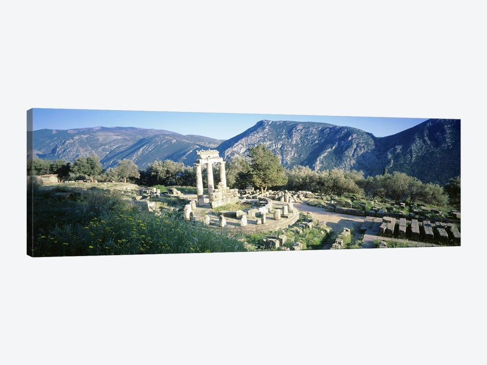 GreeceDelphi, The Tholos, Ruins of the ancient monument by Panoramic Images 1-piece Canvas Art
