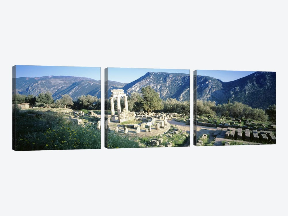GreeceDelphi, The Tholos, Ruins of the ancient monument by Panoramic Images 3-piece Canvas Art